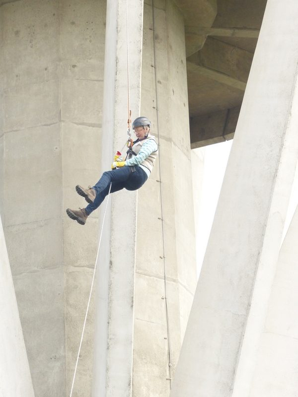 Anne's Abseil down Harlow Water Tower
