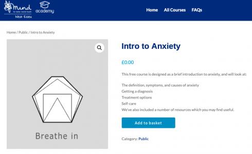 Anxiety e-leraning
